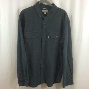 Carhartt Men's Gray Work Shirt Size L